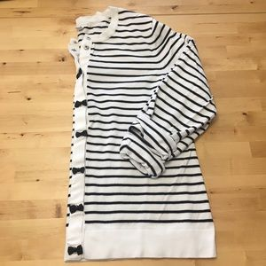 Snap-front Striped Cardigan